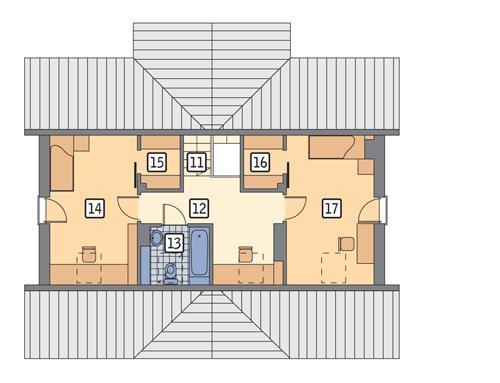 Rzut poddasza POW. 55,1 m²