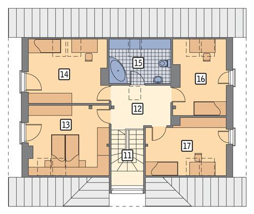 Rzut poddasza POW. 90,4 m²