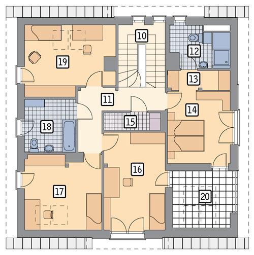 Rzut poddasza POW. 103,8 m²