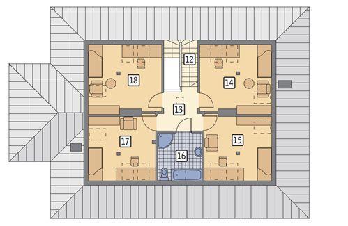 Rzut poddasza POW. 78,7 m²