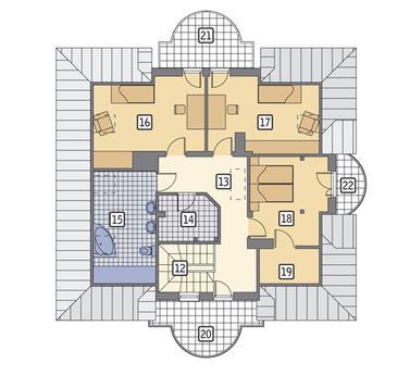 RZUT PODDASZA POW. 62,2 m²