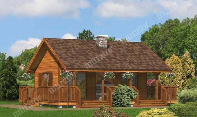 Projekt domu:  Murator DL01S   – Dla dwojga (rekreacyjny)